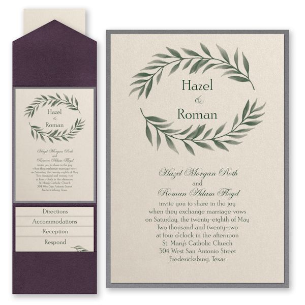 Carlson Craft Pocket Wedding Invitations: Love Vines Layered Pocket Wedding Invitation (With Images