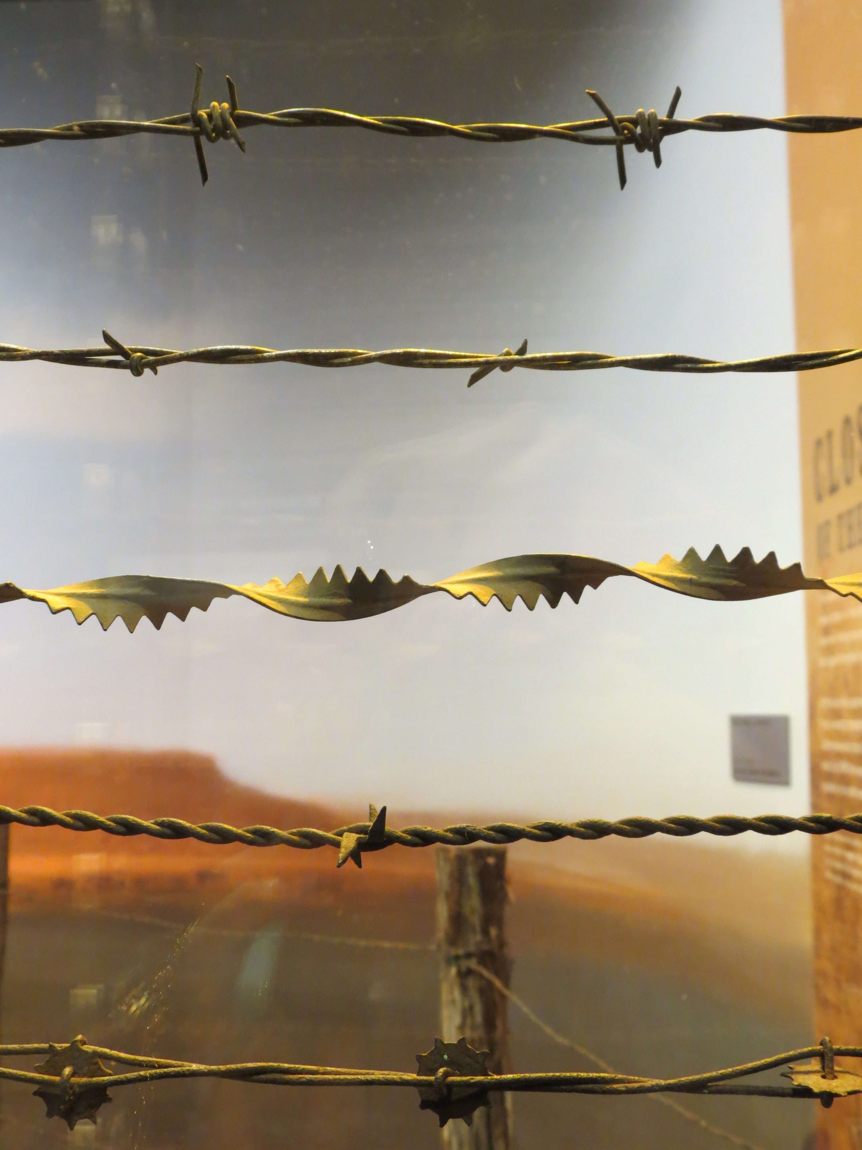 Examples of barbed wire
