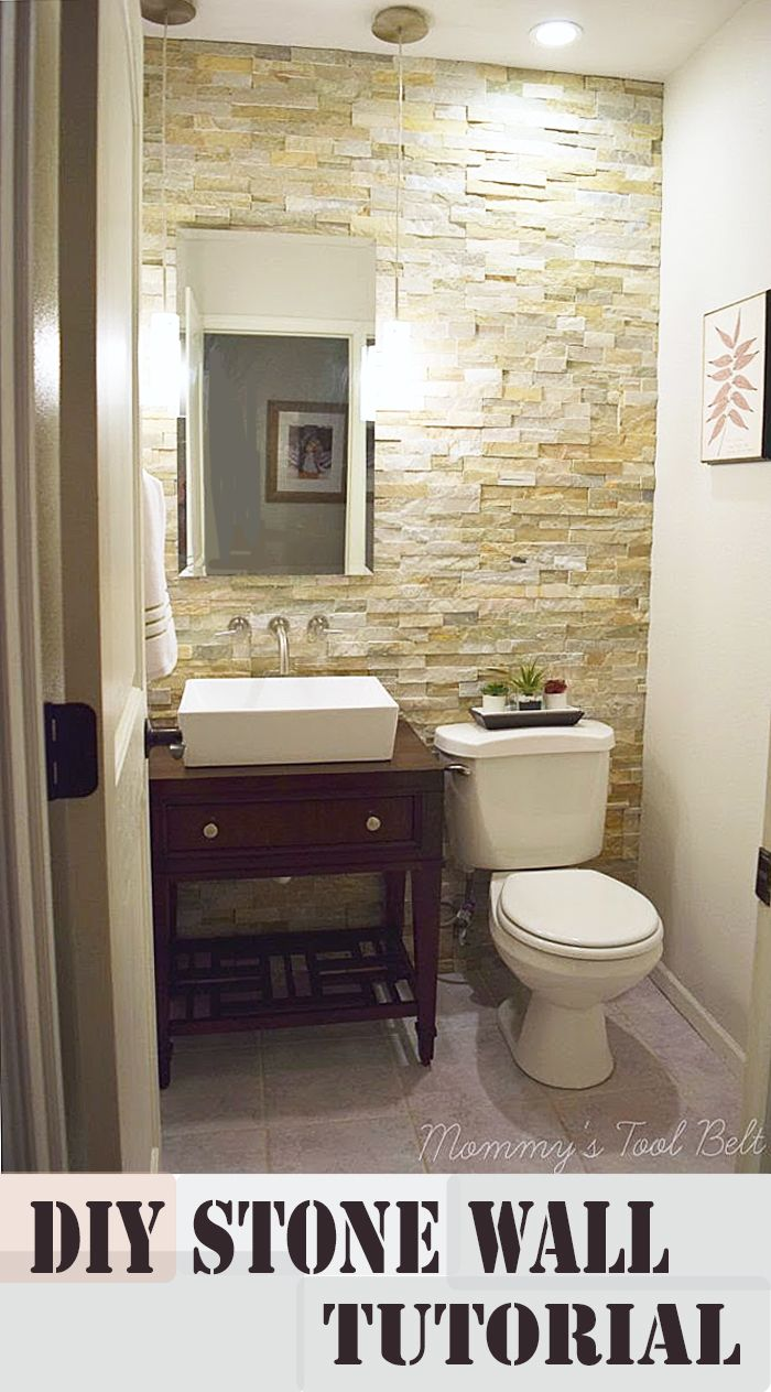 How to Install a Stone Wall in Your Home | Blogger Home Projects We ...