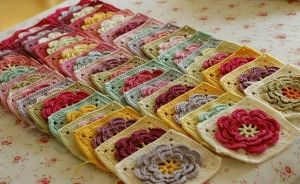 Another gorgeous Spring blanket. Pattern is from the book 200 Crochet Blocks for Blankets by Jan Eaton. The Waterlily pattern. by nona
