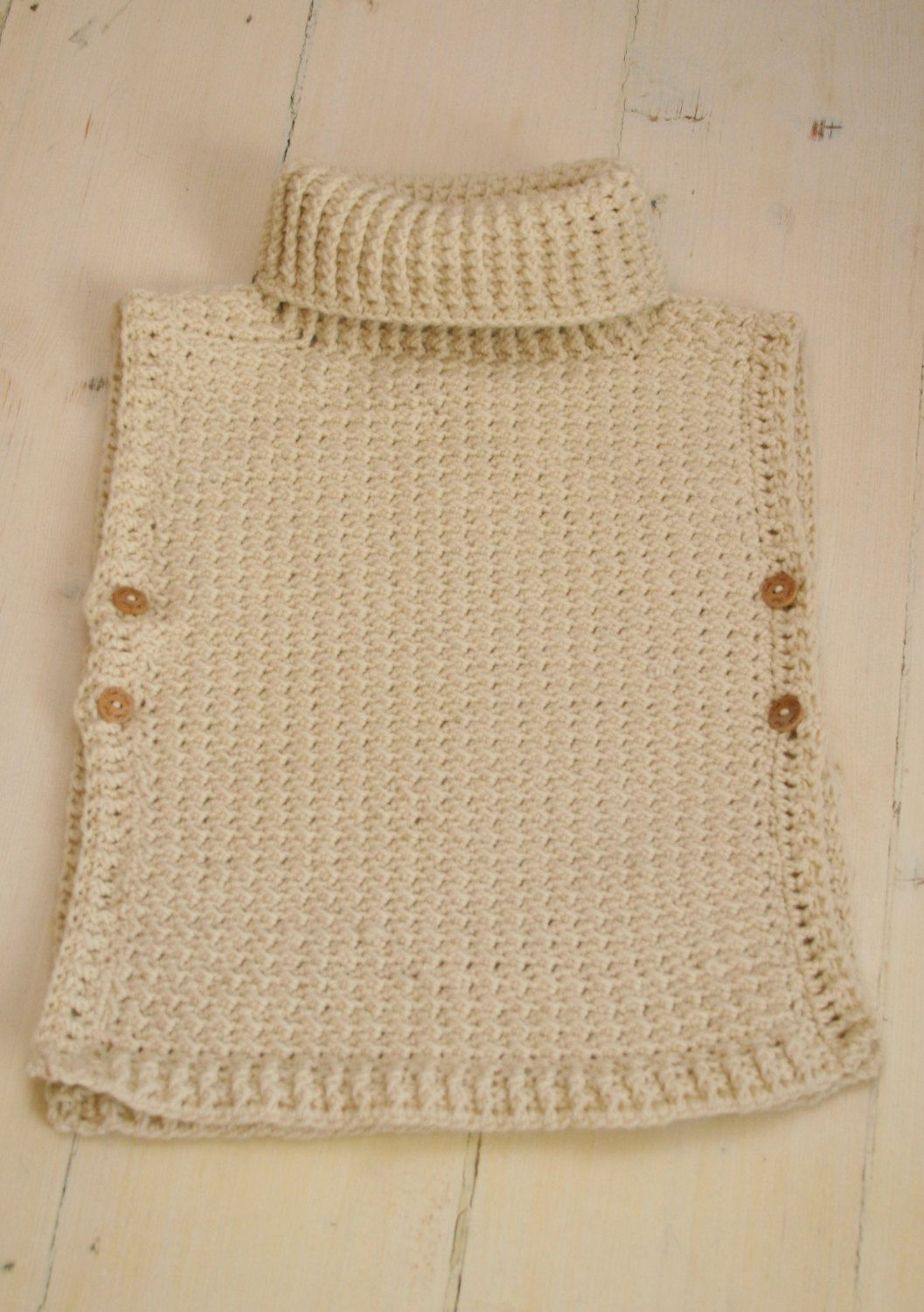 Crochet pattern poncho scarlett with turtleneck and buttons crochet pattern poncho scarlett with turtleneck and buttons toddlerchildadult sizes bankloansurffo Images