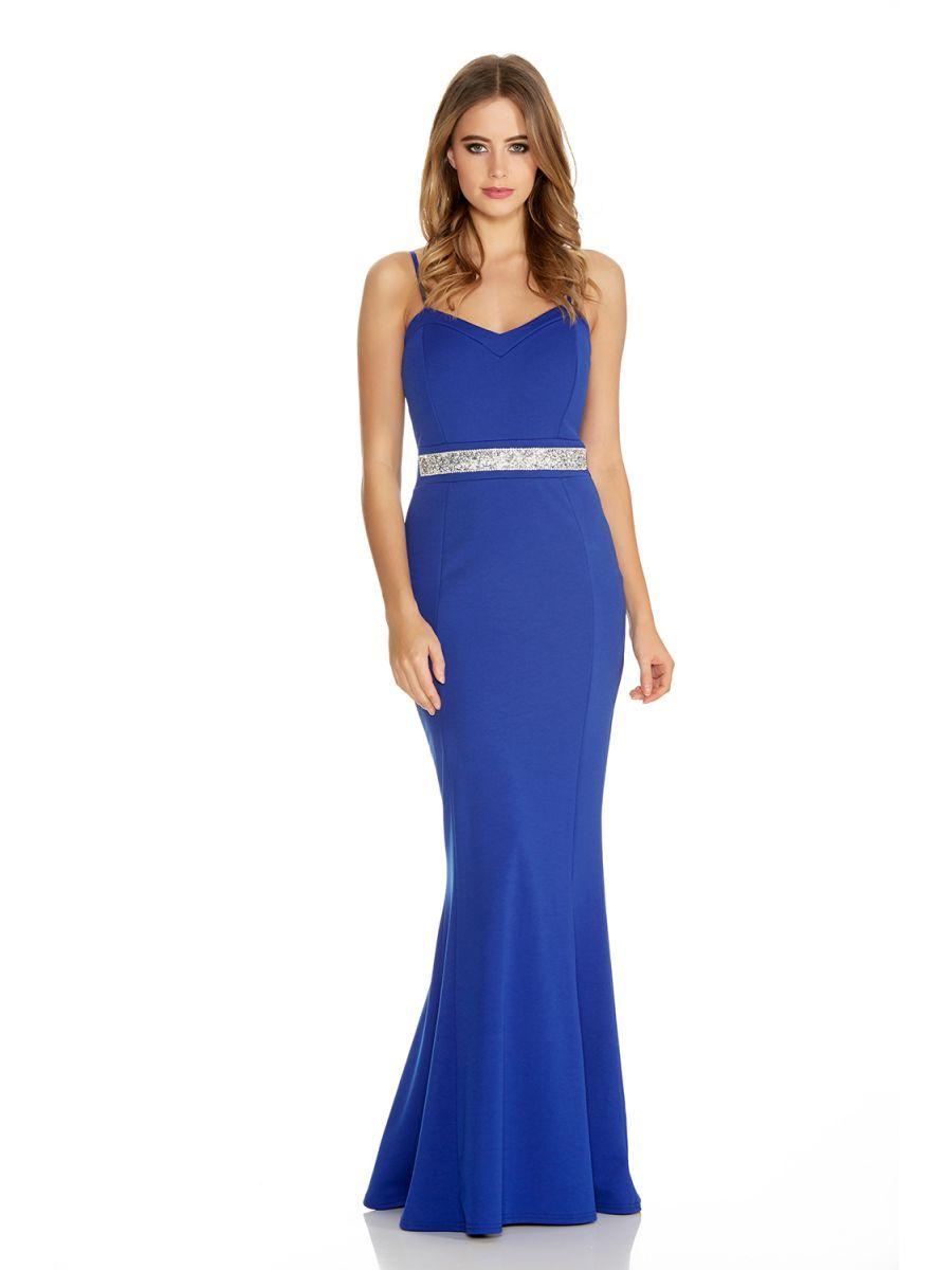 Royal Blue Embellished Strap Dress - Quiz Clothing | future ideas ...