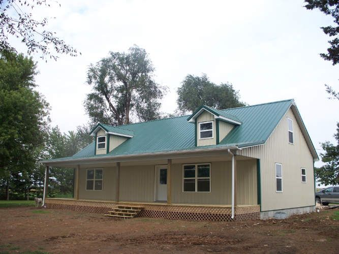 lovely simple metal building home of 1935 sq ft plan available - Metal Home Designs
