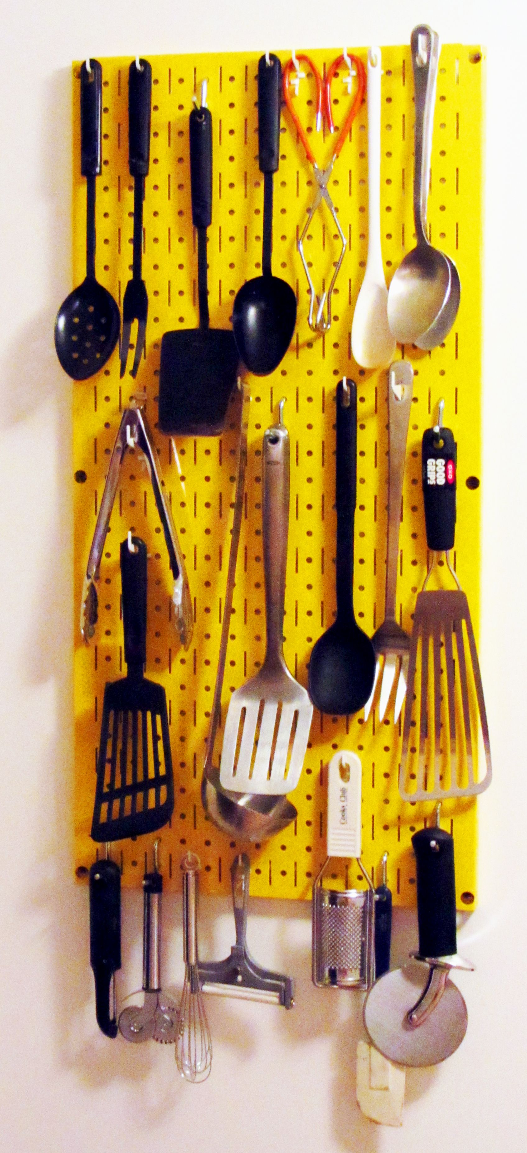 wall control pegboard hooks make it easy to store spoons on wall control id=37047