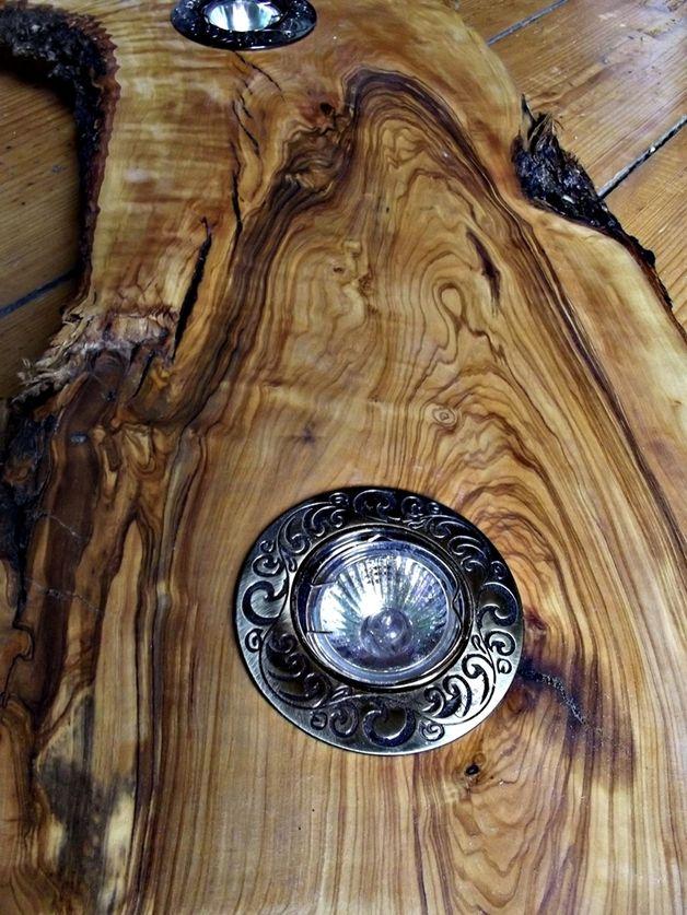 Hängelampen Deckenlampe Holz Hängelampe Olivenholz Edel