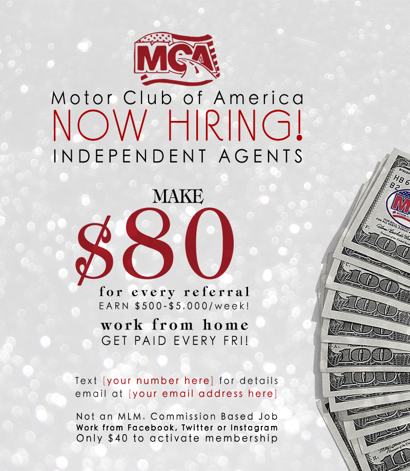 get your own flyer become a mca associate today for only 40 00 to