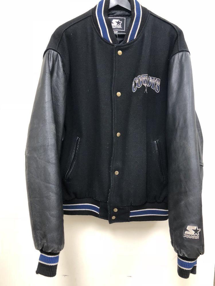 997d28dd5 Starter NFL Dallas Cowboys Leather Varsity Jacket