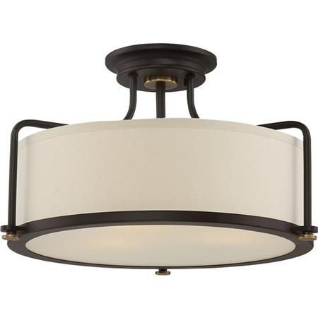 Refined Contemporary Textured Ceiling Light Semi Flush Lighting Semi Flush Mount Lighting Bronze Ceiling Lights