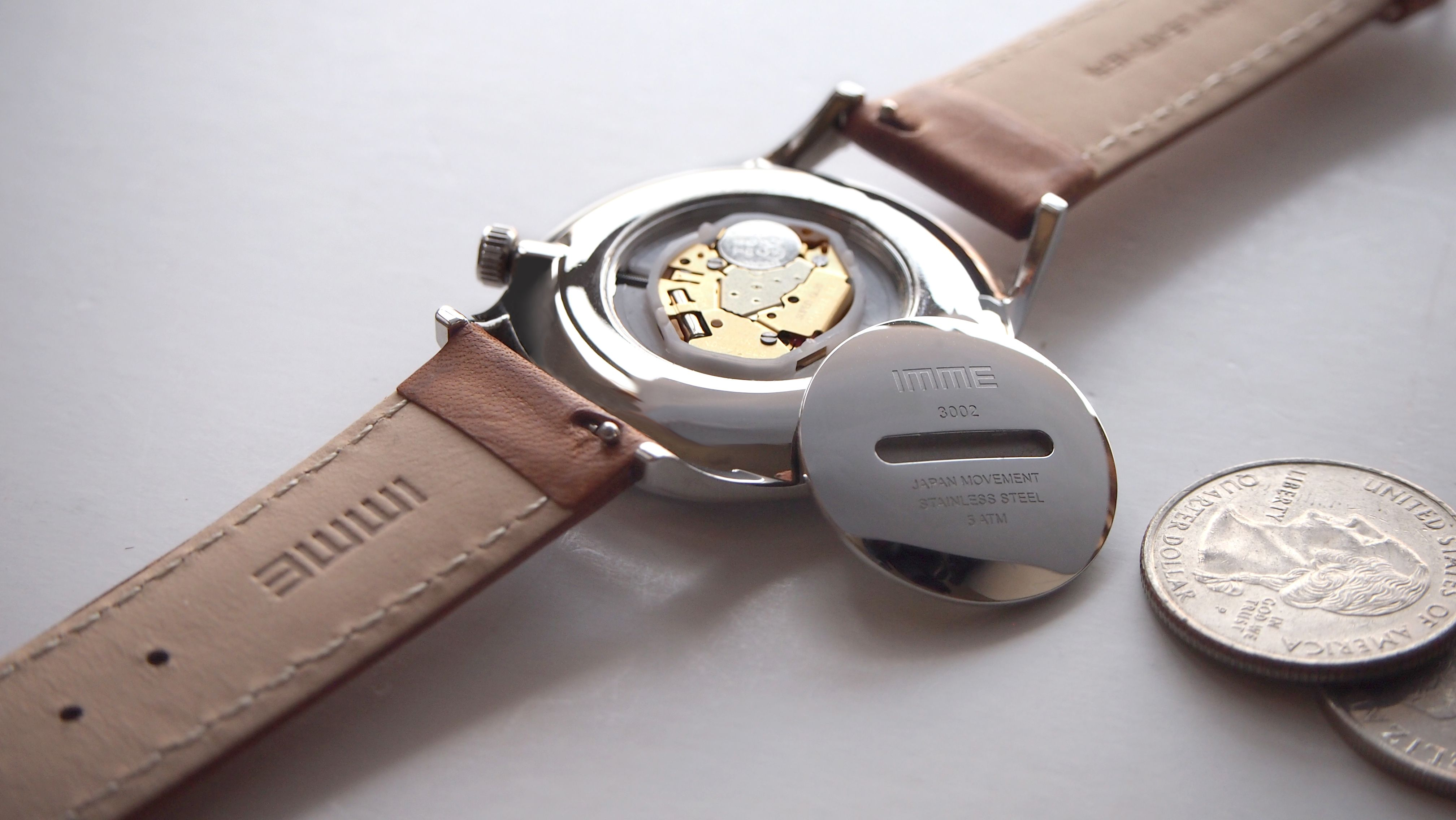 It Is Another Thoughtful Feature That Case Back With Slot For Customer Easy To Open By Coin For Battery Replacemen Affordable Watches Leather Watch Accessories