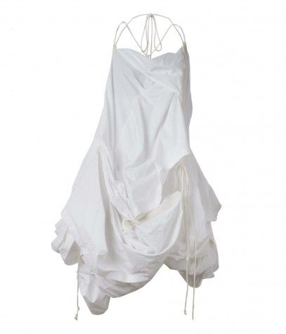White dress parachute