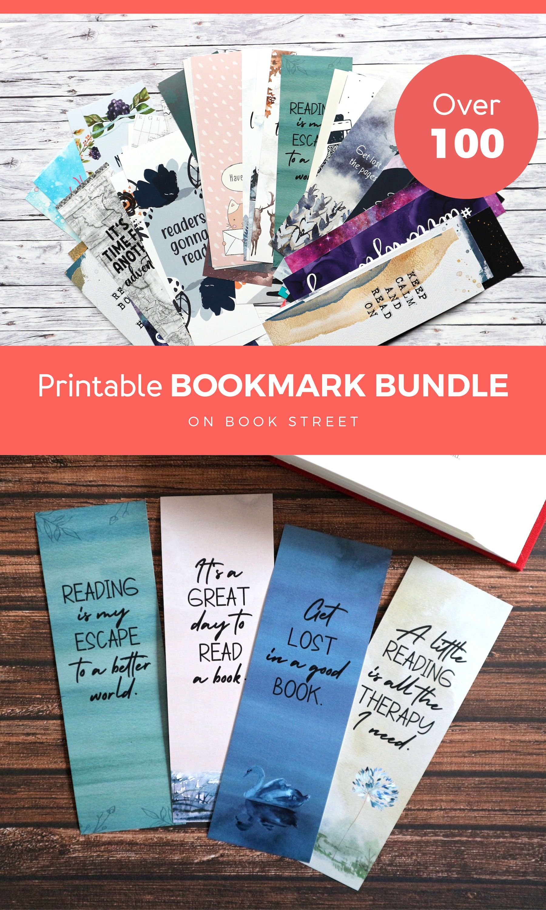 Printable Bookmark Bundle Book Club Gifts Quotes Bookmarks For Etsy Book Lovers Gifts Diy Bookclub Gifts Bookmarks For Books