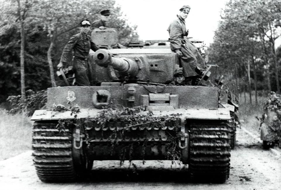 The schwere SS-Panzer-Abteilung 101 arrived in Normandy from Paris on 12 June 1944 after a road march conducted mostly during the night due to the Allied air threat. This is Tiger '222' after arrival in its designated assembly area around Villers-Bocage.