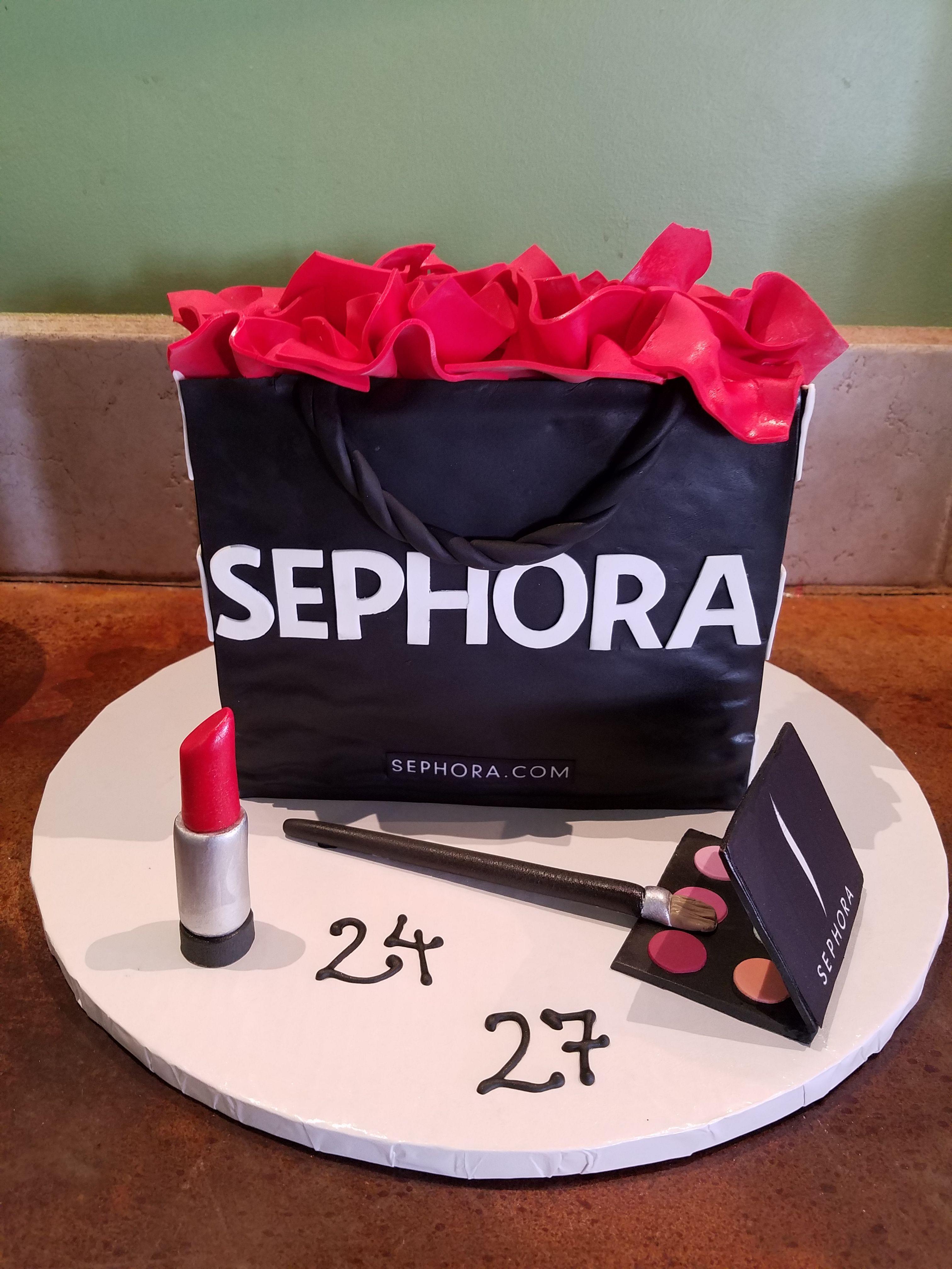 Sephora Makeup bag cake Cake bars, Custom cakes, Cake