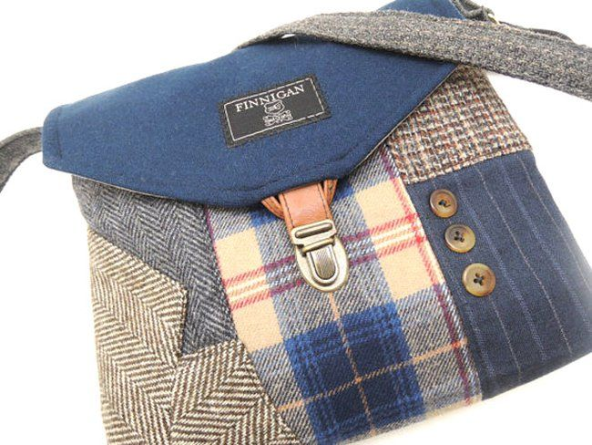 These fabulous, classic bags are made from stuffy old men's suits #men'ssuits