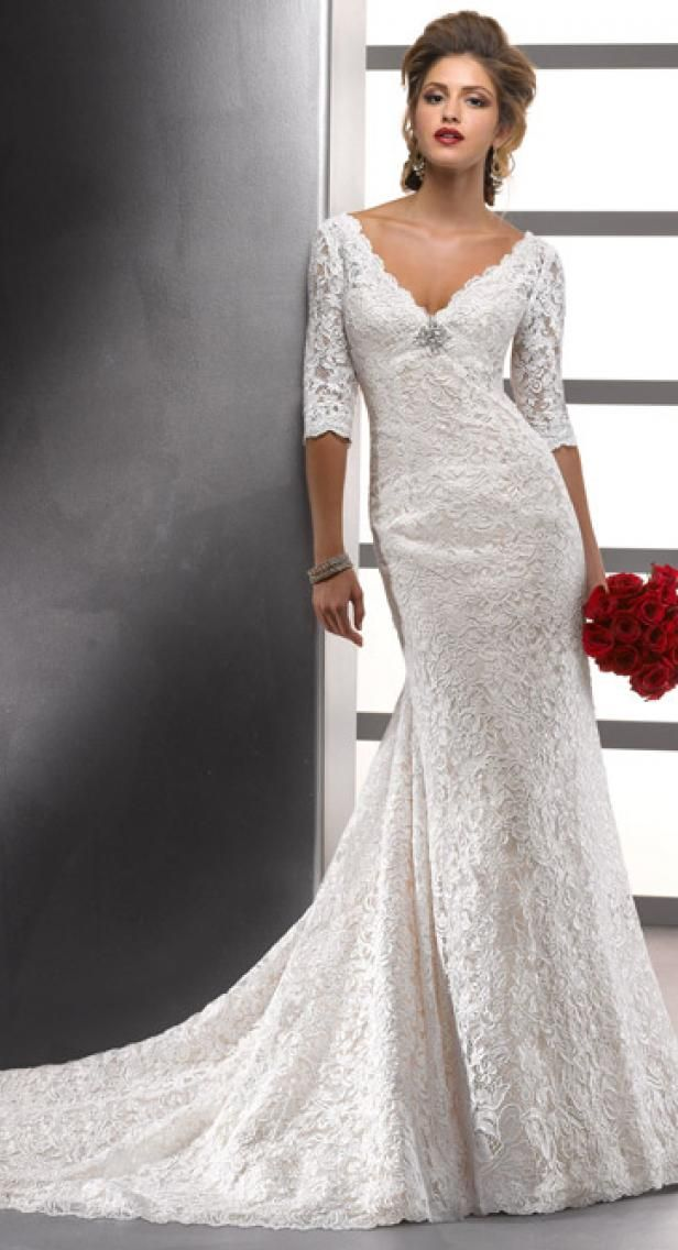 Maggie Sottero Meredith Rose Lace Long Sleeve Wedding Gown