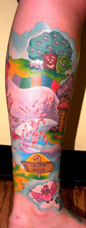 candyland tattoo on tattoo nightmares images galleries with a bite. Black Bedroom Furniture Sets. Home Design Ideas