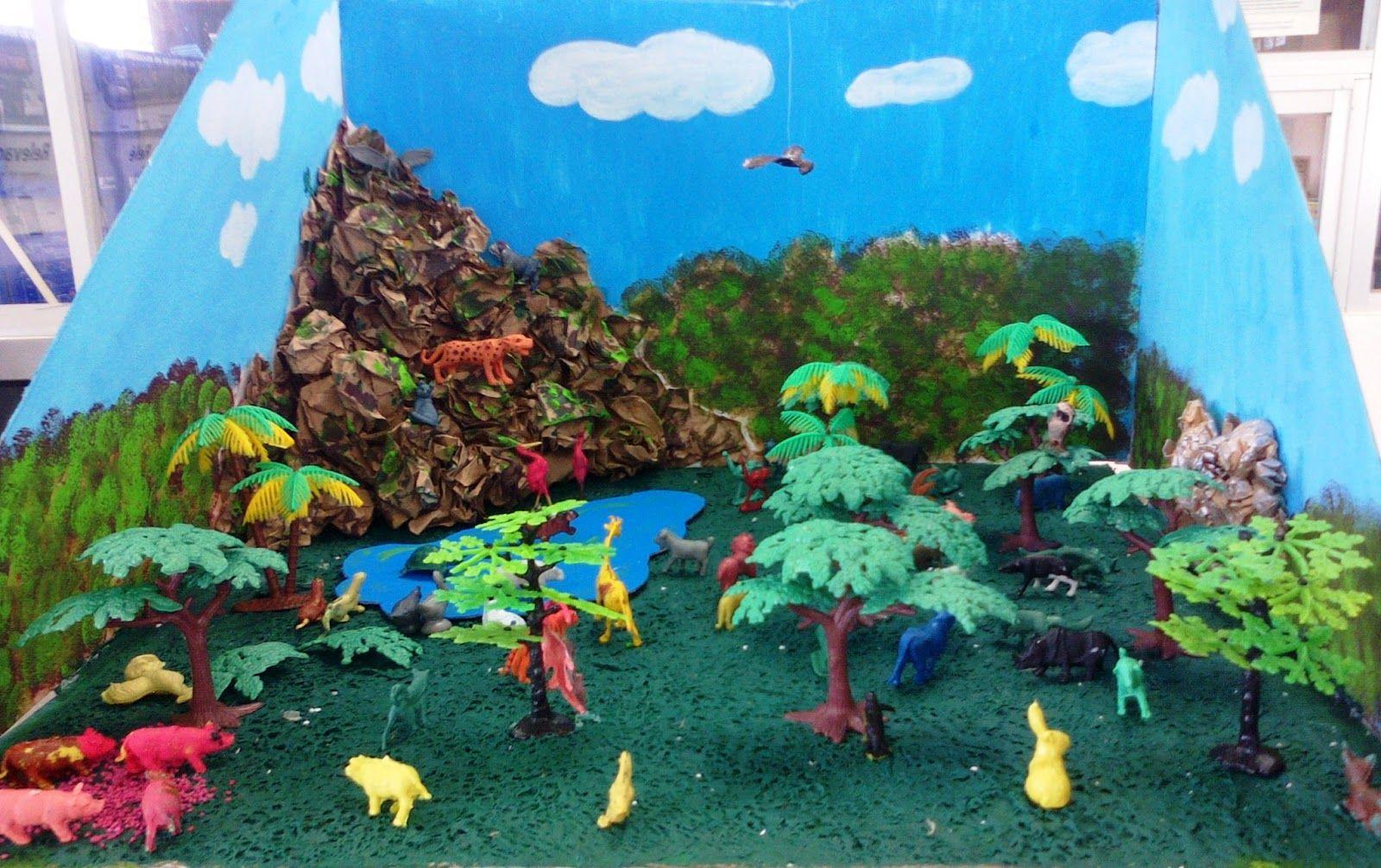 Maqueta del ecosistema imagui maquetas maquetas de for Como hacer una laguna artificial