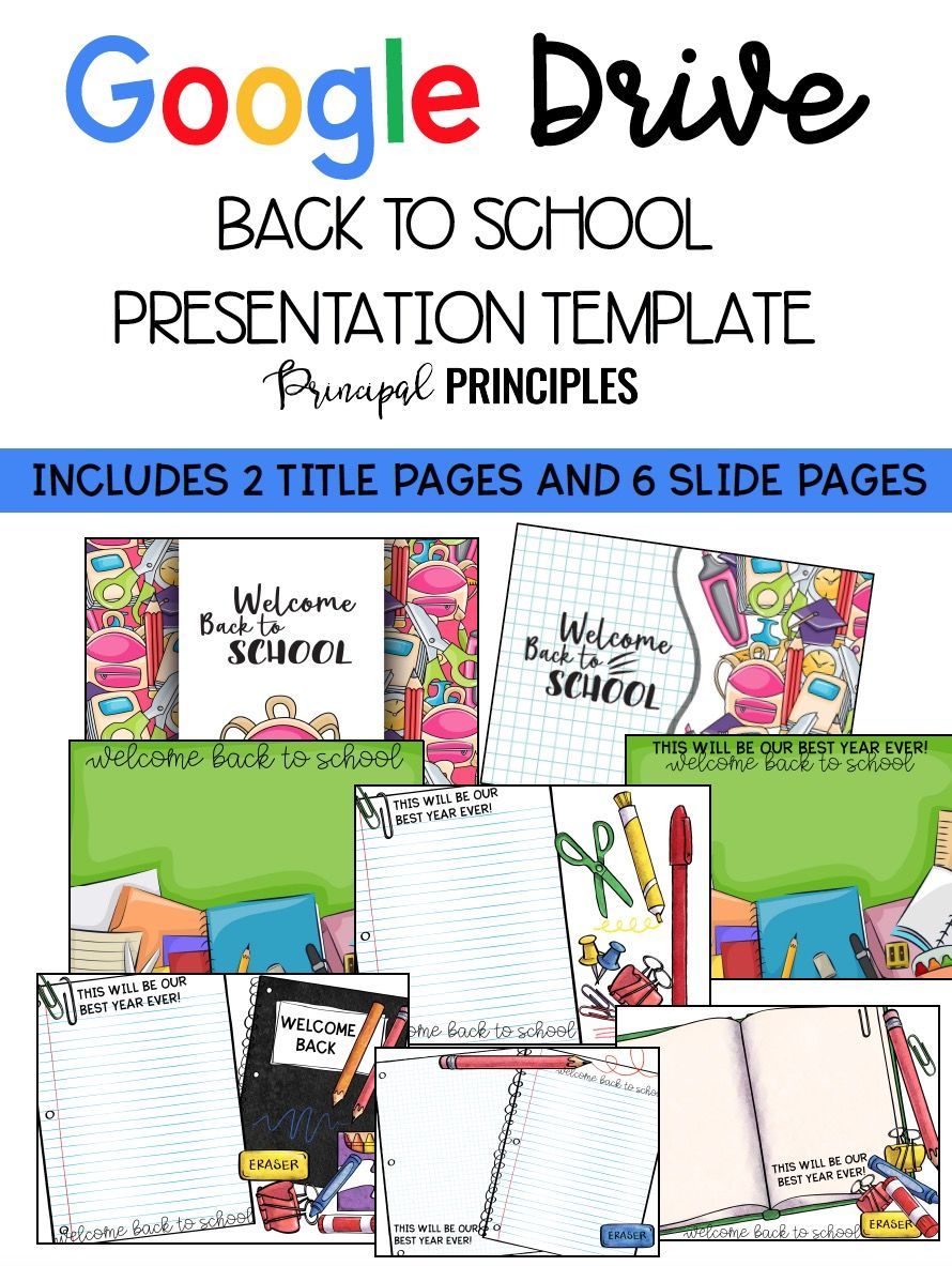 Back To School Presentation Template Google Drive Format - Drive presentation templates