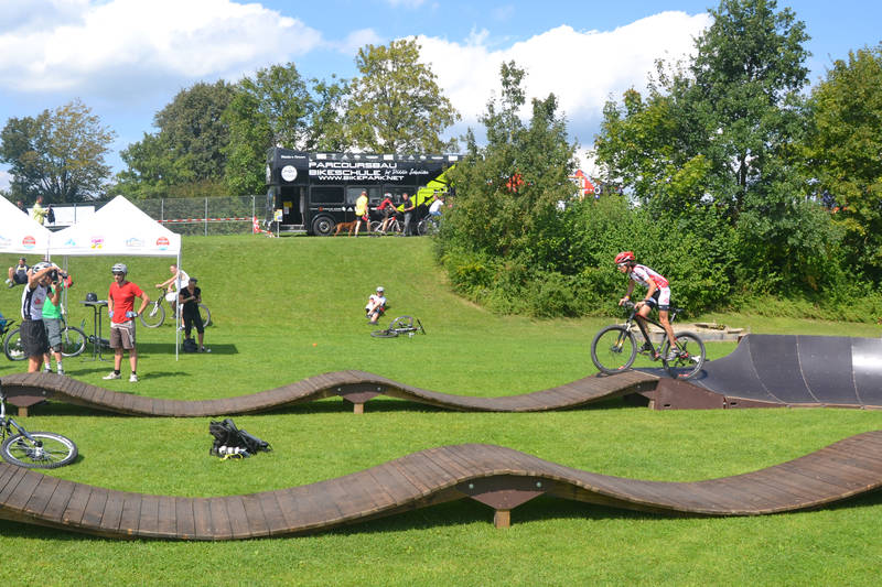 Wooden Pump Track Google Search Bicycle Track Bicycle Trail Mountain Bike Trails