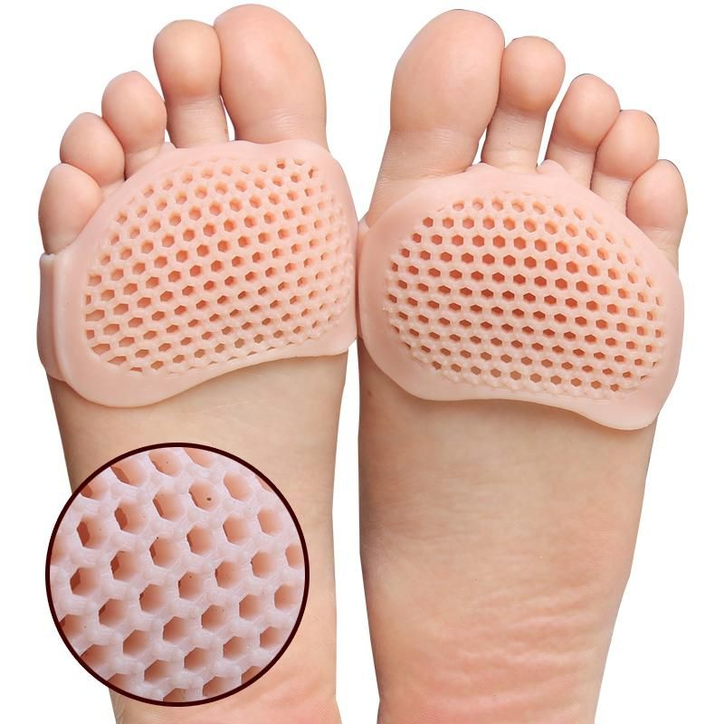 1 Pair Gel Forefoot Pads Metatarsal Pads Corns Blister Pads Breathable White