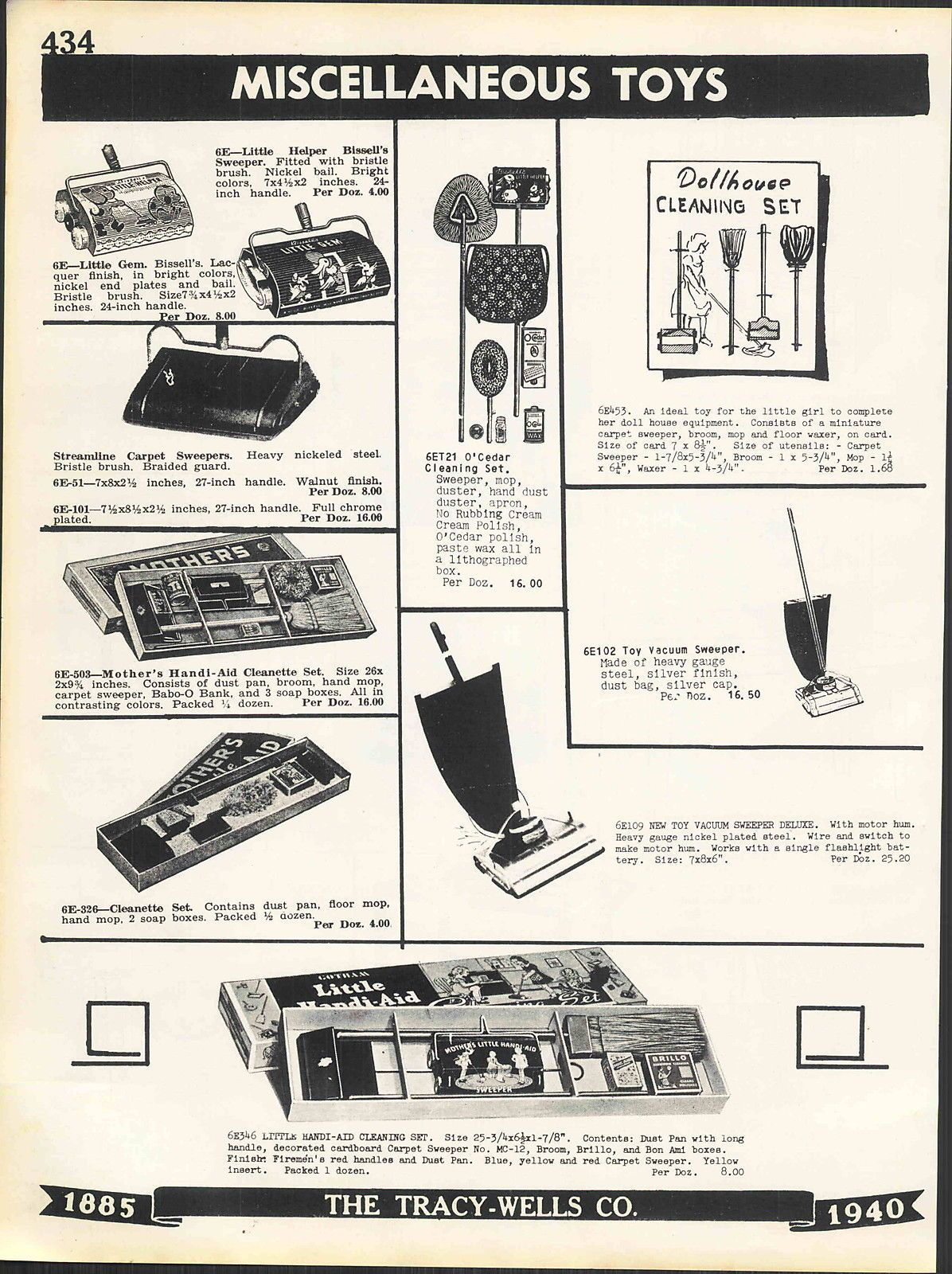 1940 AD Wolverine Toy Play Kitchen Cabinets Refrigerator Post Office ...