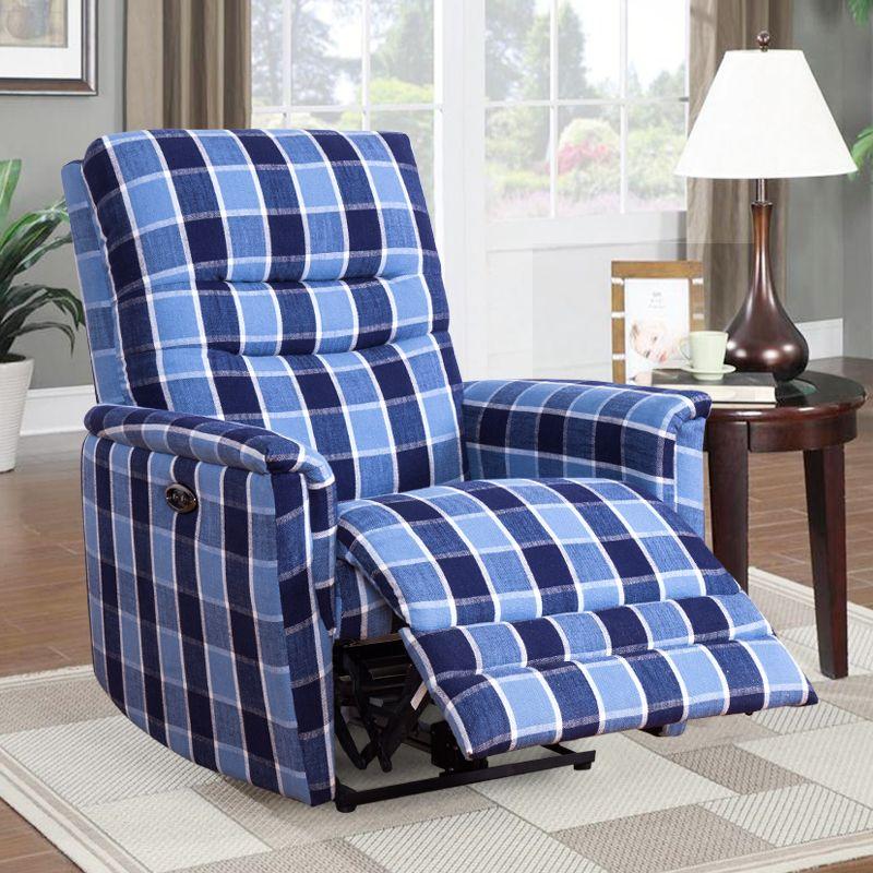 Modern Blue Fabric Living Room Electric Single Recliner Sofa Chair Reclining Sofa Living Room Sofa Sofa Chair