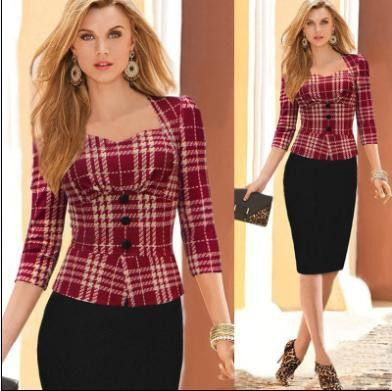New 2017 Women Pencil Casual Office Dress Collection