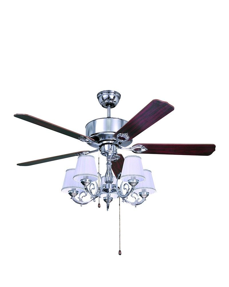 5 lights traditional style chrome ceiling fan with chandelier kit 5 lights traditional style chrome ceiling fan with chandelier kit mozeypictures Choice Image