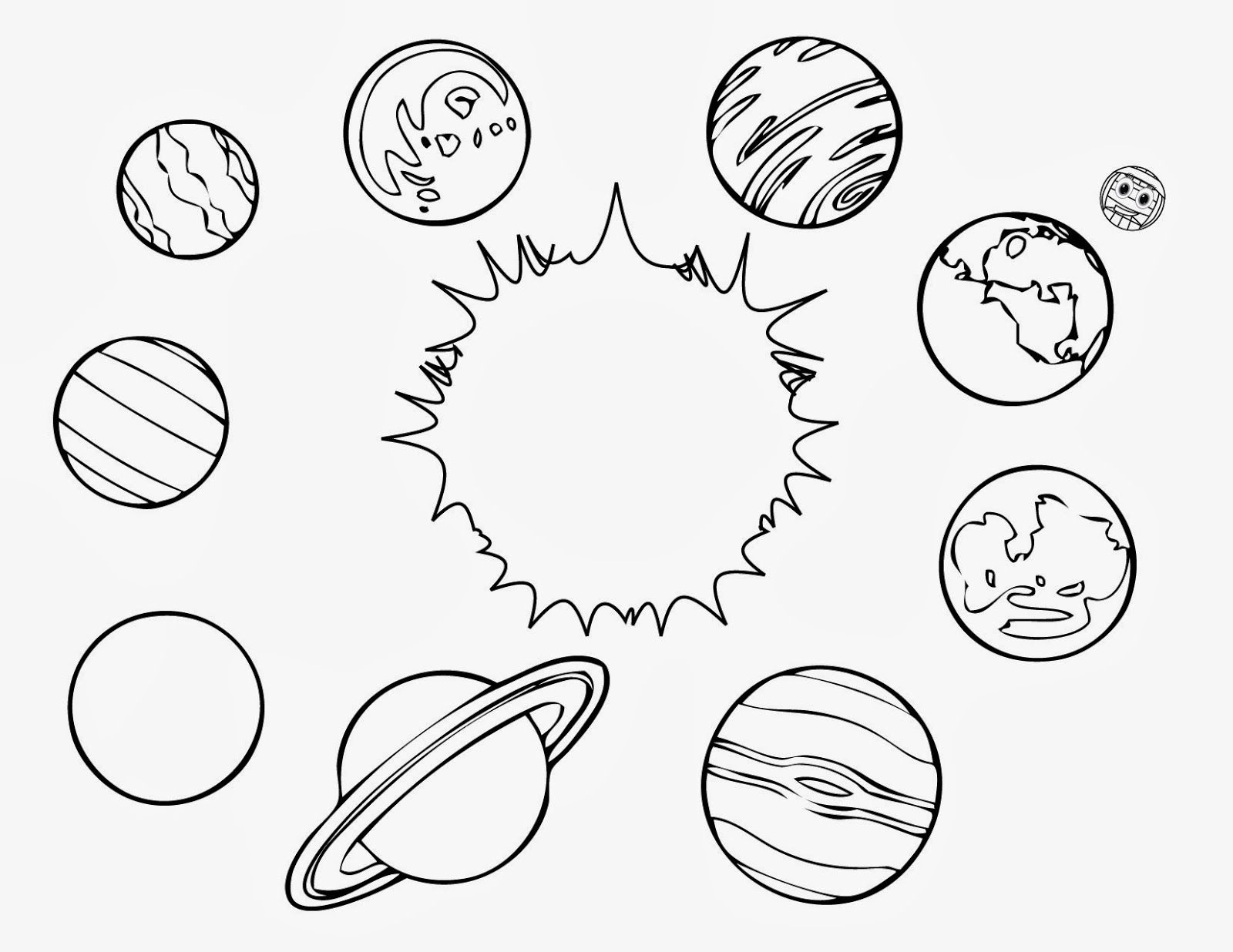 Planet coloring pages to download and print for free | Forms, shapes ...