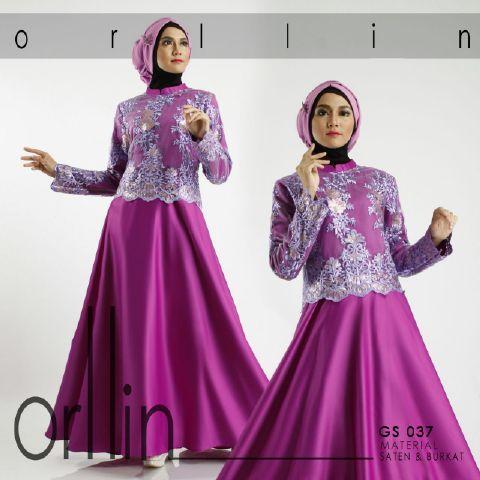 Pin By Rebecca Keren On Baju Muslim Satin Brokat Kebaya
