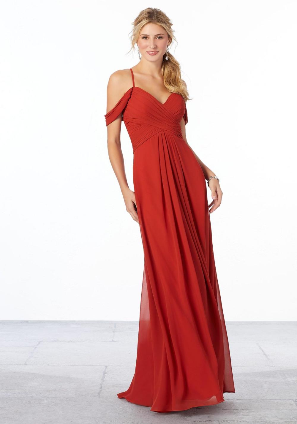 ColdShoulder Chiffon Bridesmaid Dress Morilee in 2020