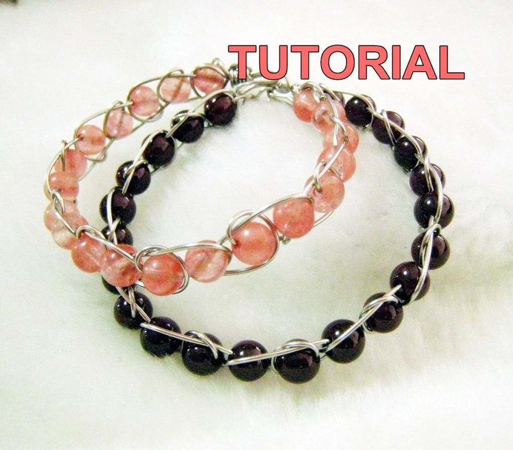 TUTORIAL: Wire Wrap Infinity Bracelet | Wire wrapping and Wire ...