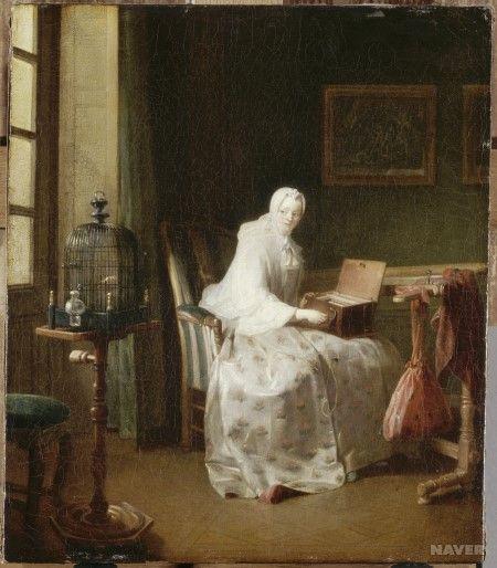 1751년 작인 이 작품 속에서 장 밥티스트 시메옹 샤르댕은 여러 가지 여흥을 즐기는 여인의 모습을 담았다. 이 작품은 샤르댕이 왕가로부터 최초로 주문받아 제작한 것이다. 작품 속에서...