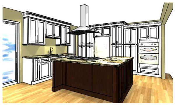 l-shaped kitchens with double ovens | Kitchen Loaded with Function ...