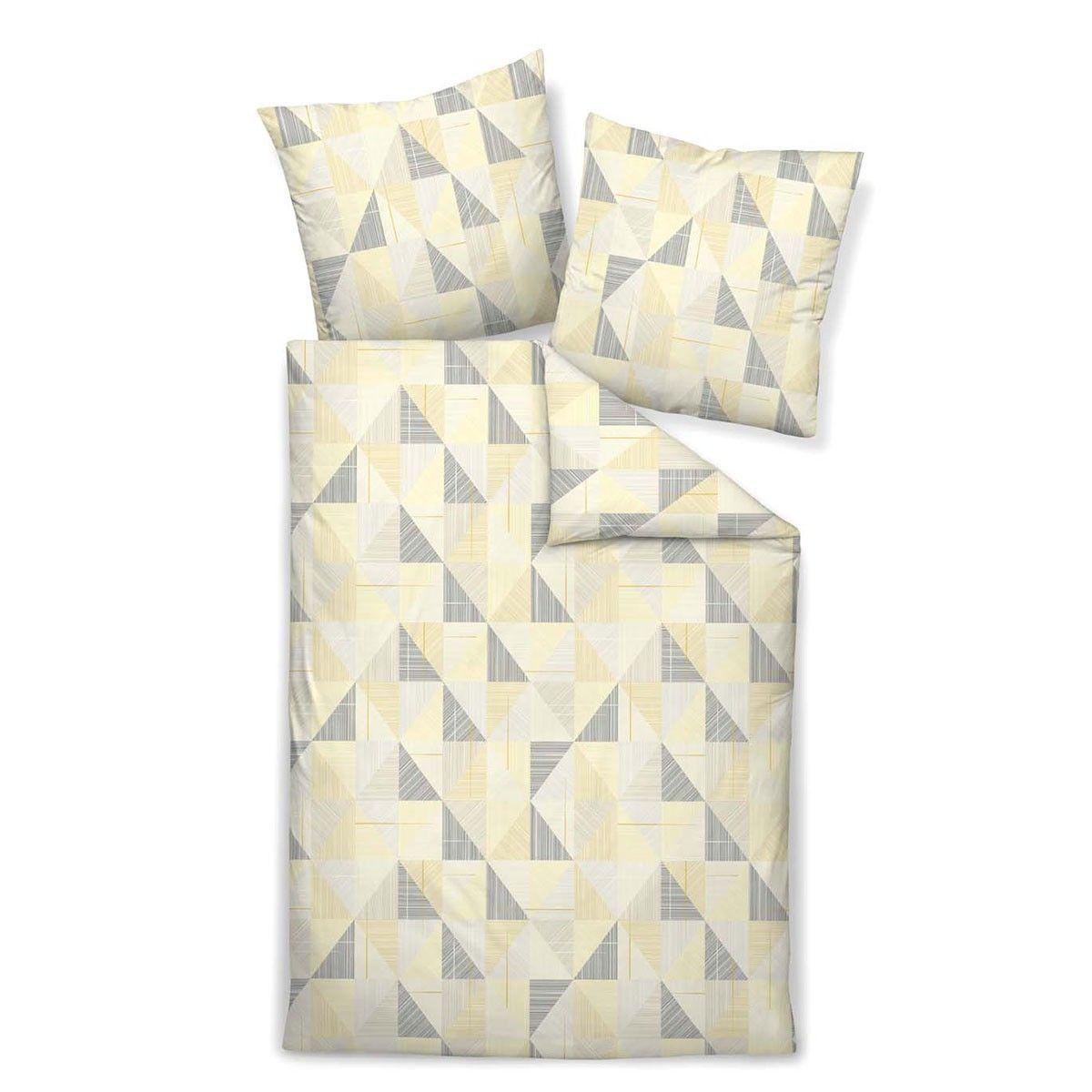 janine mako satin bettw sche messina 43024 03 mineralgelb in zart gl nzender baumwolle f r den. Black Bedroom Furniture Sets. Home Design Ideas