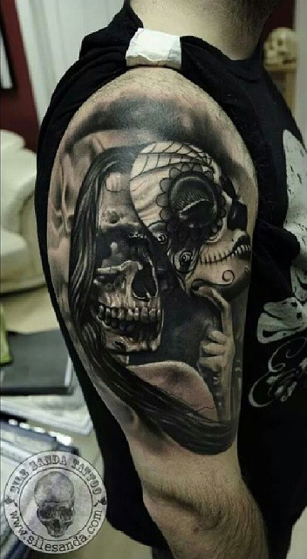 100 awesome skull tattoo designs pinterest tattoo designs masking and tattoo. Black Bedroom Furniture Sets. Home Design Ideas