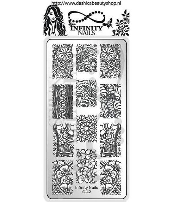 Infinity Nails 42 stamping plate full mandala flower | nails ...