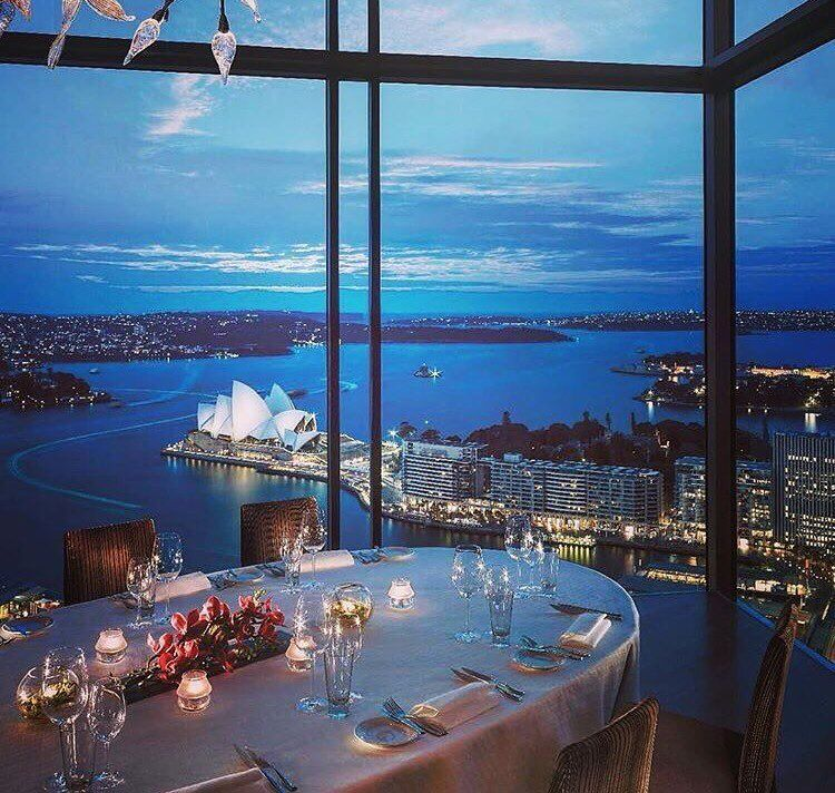 How about a glass overlooking the opera house? simply