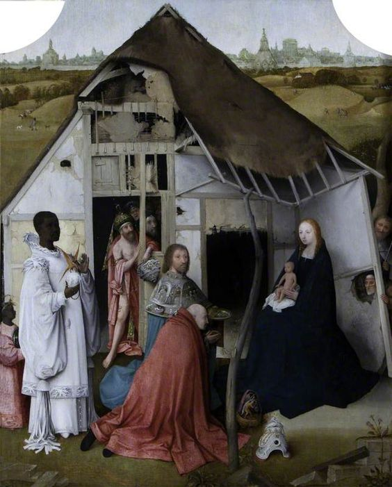 """Ticia Verveer on Twitter: """"The Adoration of the Magi  Hieronymus Bosch  Triptych ca.1495  #Epiphany #epifania at Prado Museum Madrid #Spain https://t.co/aEMUvLzZW4"""""""