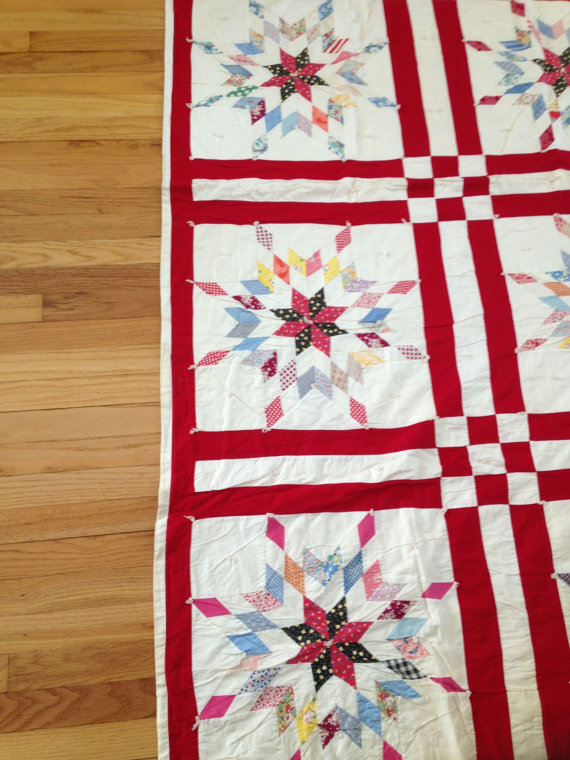 Quilt  Connecticut Deep River Early CT River by MiddleCoveAntiques