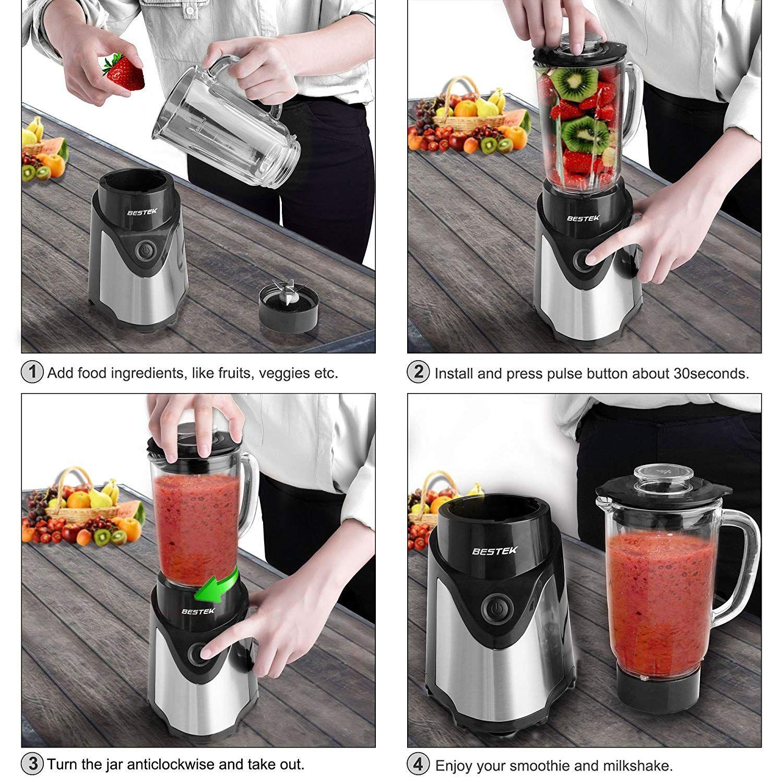 Bestek personal blender with 600ml glass jar 200ml coffee