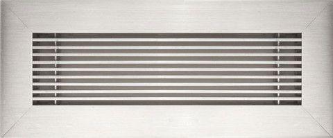 $60 alumimum floor grille in Brushed Chrome