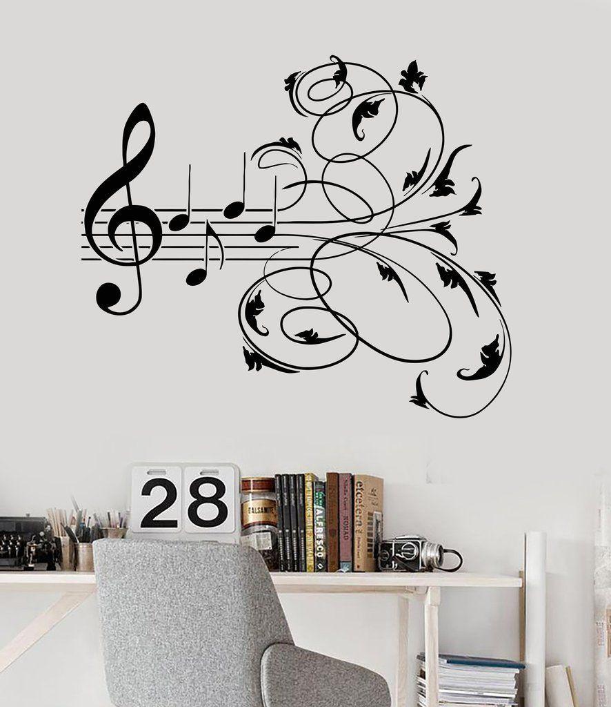 5ebd1ac11e Music wall Art - Vinyl Wall Decal Music Patterns Musical Room Decor  Stickers Mural (ig3244)... #Musicwall #Art