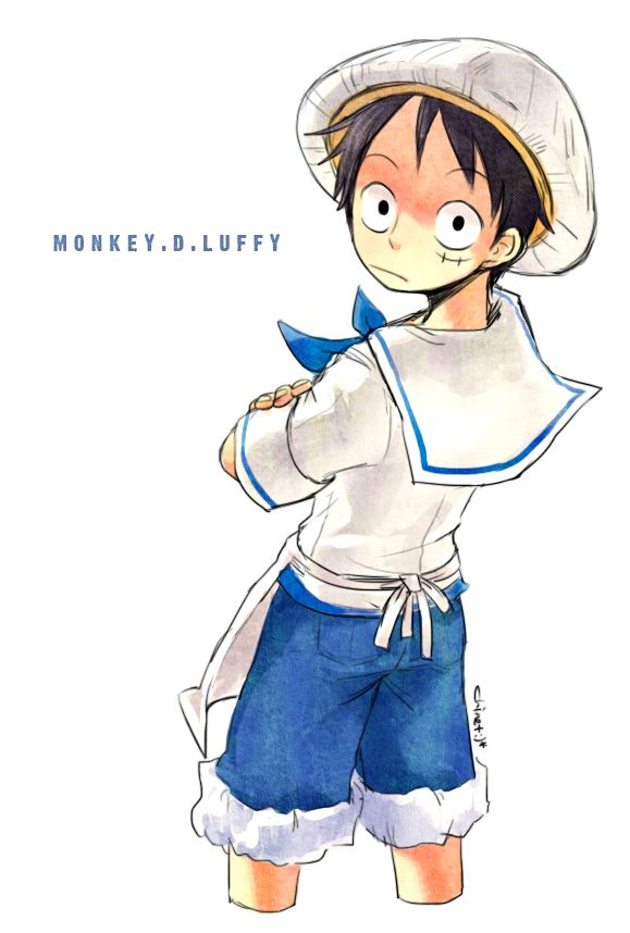 Monkey D Luffy Age 9 Marine Trainee One Piece