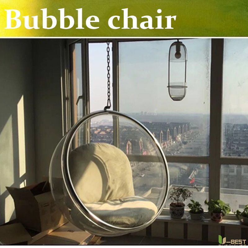 U Best Transparent Hanging Eero Aarnio Hanging Acrylic Replica Bubble Chair Suspendend Bubble Chair Bubble Chair Wicker Patio Chairs Outdoor Tables And Chairs