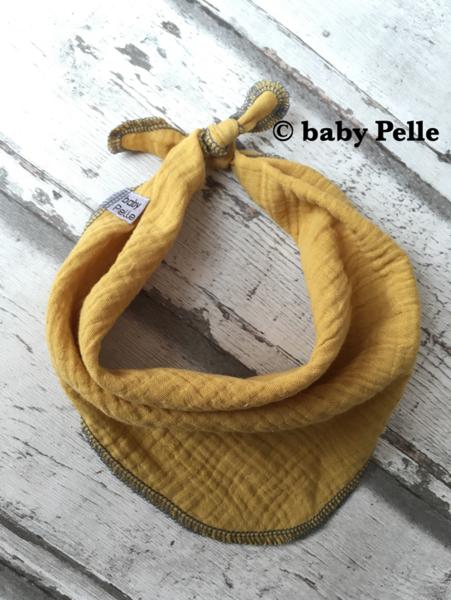 Halstücher - Baby Halstuch Musselin Baumwolle senfgelb ocker  - ein Designerstück von babyPelle bei DaWanda
