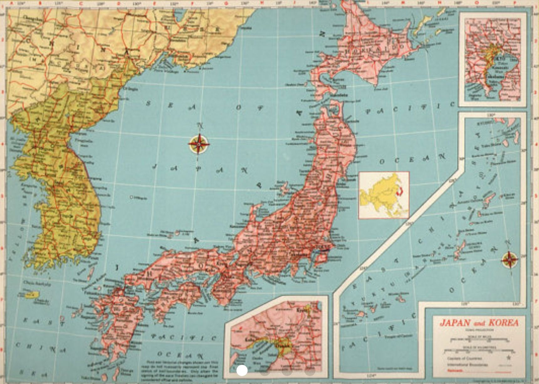 1940 map of japan and korea japanese korean chinese ancient maps 1940 map of japan and korea gumiabroncs Choice Image