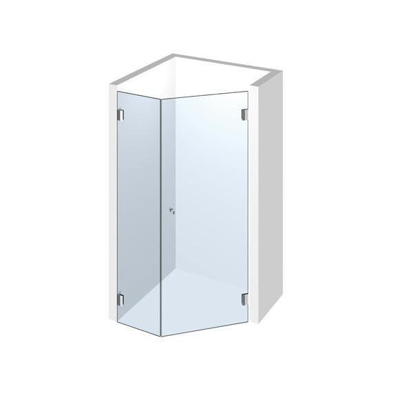 5EckDusche Pontere Set 308 Dusche, 5 eck, Glasduschen