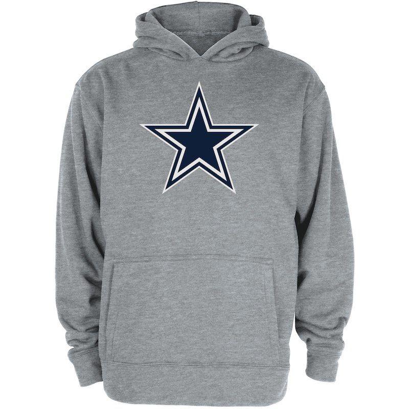 27ea95423 Dallas Cowboys Youth Logo Premier Pullover Hoodie – Gray