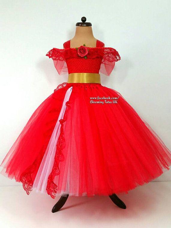 Red Princess Handmade Tutu Dress Birthday Party Photoshoot